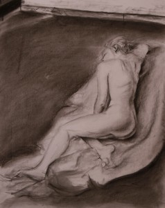 Brianne II Charcoal on Art Paper Photos by Lezak Photography